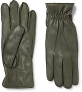Want Les Essentiels - Chopin Cashmere-lined Full-grain Leather Gloves