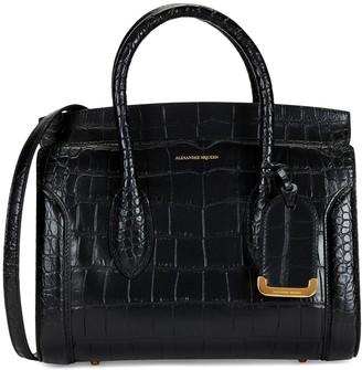Alexander McQueen Heroine Crocodile Embossed Leather Shopper