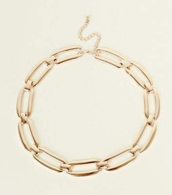 New Look Gold Chunky Chain Necklace