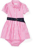 Ralph Lauren Girl Striped Shirtdress & Bloomer