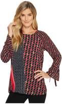 Nic+Zoe Mixed Dots Top Women's Clothing