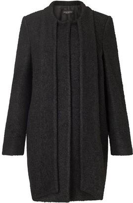 James Lakeland Boucle Tie Neck Coat