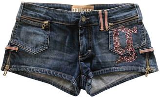 Galliano Blue Denim - Jeans Shorts for Women