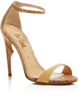 Jerome C. Rousseau Malibu Cork Ankle Strap High Heel Sandals