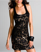 Long And Lean Tank - Leopard Sequin