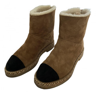Chanel Camel Shearling Boots