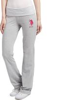U.S. Polo Assn. Heather Gray Stripe Waist Yoga Pants