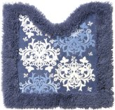 toiletries imported from Japan Dress leaf toilet mat navy blue (japan import)