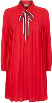 Claudie Pierlot Pleated Shirt Dress