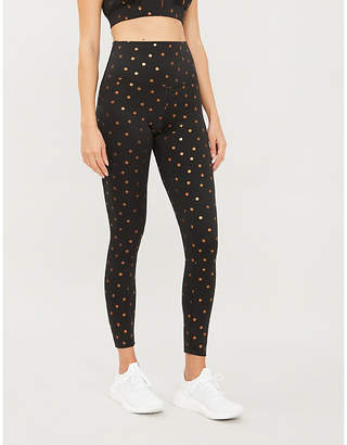 Beach Riot Polka dot high-rise stretch-jersey leggings
