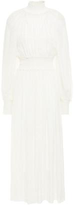 Zimmermann Shirred Fil Coupe Silk-blend Maxi Dress