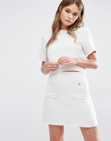 Fashion Union Textured Co-Ord Top