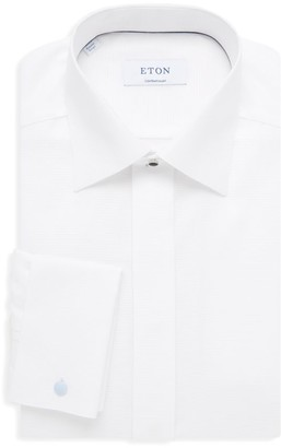 Eton Contemporary-Fit Dobby Fly-Front Evening Shirt