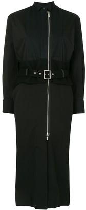 Sacai Zip-Through Belted Shirtdress