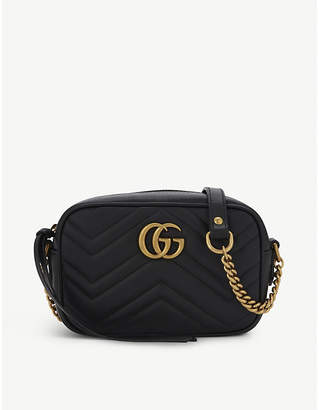 Gucci GG Marmont mini quilted leather cross-body bag, Women's, Perfect pink