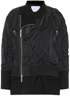 Sacai Wool and nylon jacket