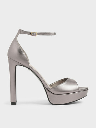 Charles & Keith Metallic Platform Stiletto Heels