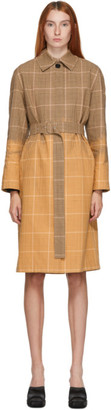 MSGM Brown Dip Bleach Trench Coat