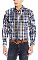 Wrangler Men's Wrinkle Resist Western Long Sleeve Woven Shirt