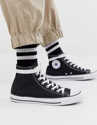 Asos Design DESIGN reflective sports sock-Black