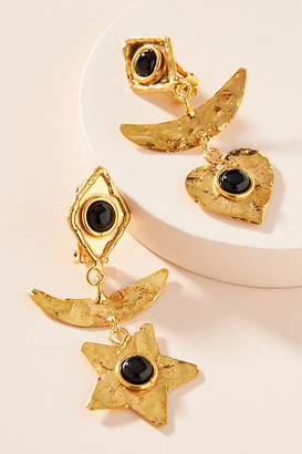 Sylvia Toledano Honeymoon Clip-On Earrings By in Black