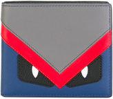 Fendi eye print cardholder - men - Calf Leather - One Size