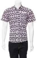 Dries Van Noten Abstract Print Button-Up Shirt