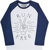 "Munster Run Free"" Jersey Long-Sleeve T-Shirt-WHITE"