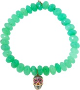 Sydney Evan Day Of The Dead Skull Chrysoprase Beaded Bracelet