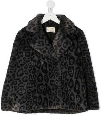 Zadig & Voltaire Kids Leopard-Print Faux Fur Jacket