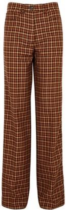 Dries Van Noten Pennan Checked Straight-leg Trousers