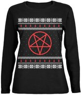 Old Glory Satanic Pentagram Ugly Christmas Sweater Womens Long Sleeve T-Shirt