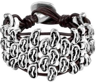 Uno de 50 Limitless Beaded Multi Strand Leather Bracelet