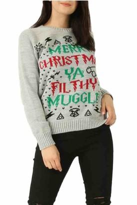 EASY BUYY Womens Ladies Merry Xmas YA Filthy Muggle Christmas Jumper Sweatshirt (8-10