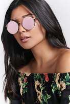 Forever 21 FOREVER 21+ Brow Bar Round Sunglasses