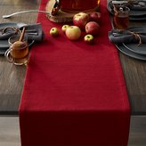 "Crate & Barrel Grasscloth 90"" Ruby Red Table Runner"
