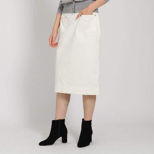 Dessin (デッサン) - Dessin(Ladies) 【洗える】【後ろゴム】細畝コーデュロイストレートスカート