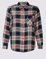 M&S Collection Checked Long Sleeve Shirt
