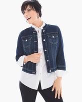 Chico's Denim Embellished-Button Jacket