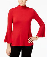 Alfani Mock-Neck Bell-Sleeve Top, Created for Macy's