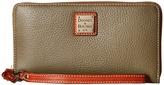 Dooney & Bourke Pebble Leather Large Zip Around Wristlet Wristlet Handbags
