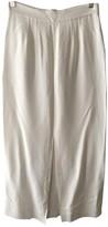 Vilshenko White Silk Skirts