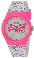 Superdry Women's 'Urban Floral' Quartz Plastic and Silicone Dress Watch, Color:Grey (Model: SYL169EP)