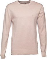 French Connection Mens 12G Crew Neck Jumper Stone