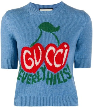 Gucci Beverly Hills Intarsia Knit Top