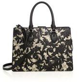 Gucci Arabesque Small Canvas Top-Handle Bag