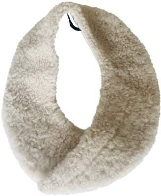 Meadham Kirchhoff White Shearling Scarves