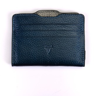 Atelier Hiva Double Card Holder Metallic Navy & Metallic Anthracite