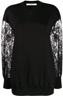 Givenchy Lace Sleeve Sweater