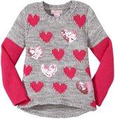 Design History Hi-Lo Sweater (Toddler/Kid) - Gray-6X